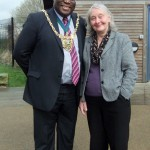 The Lord Mayor with Diana Stimely