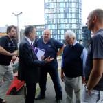 Joe Scarborough, Paul Blomfield visit the ruins