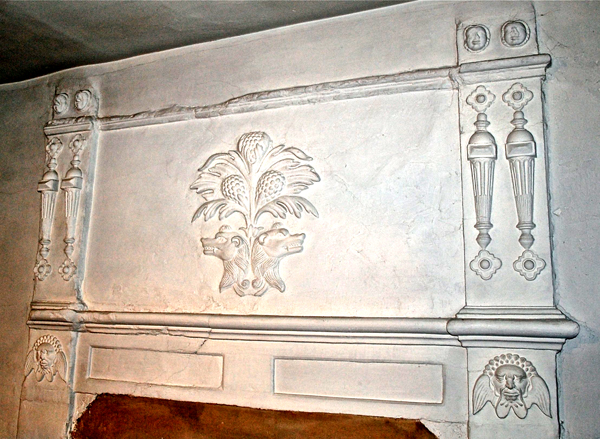 plasterwork reputedly from the Castle
